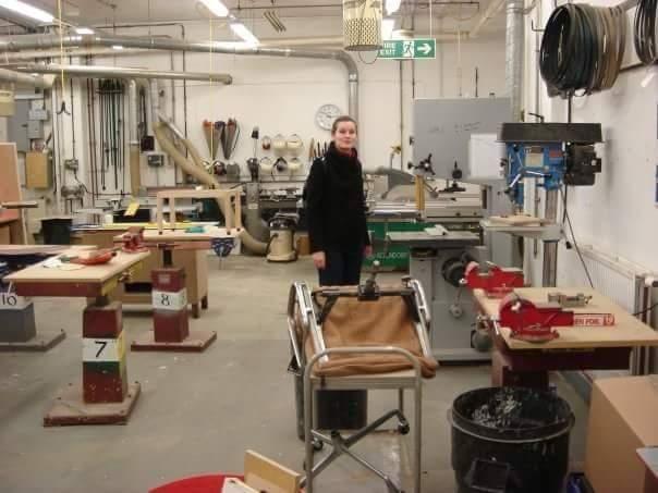 Анна Болдина. Фото макетной мастерской: зал для работы с деревом.