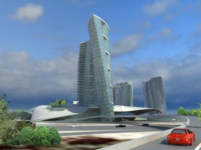 Архитектурная концепция многофункционального комплекса на Лыковском проезде © ПТАМ Виссарионова