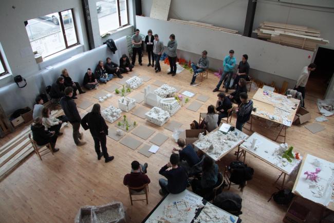 Выставка моделей Lego-воркшопа в Архитектурной школе Орхуса