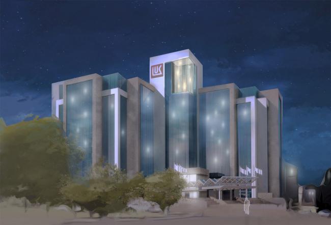 Архитектурная студия CLIC совместно с Brink Brandenburg Arkitektur. Арт-объект для штаб-квартиры «Лукойл» в Москве. 3-е место конкурса.