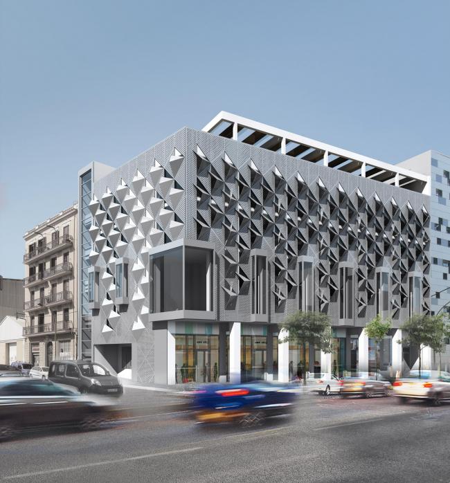 Студенческий проект «Жилой дом высокой плотности с теплорегулирующим фасадом»