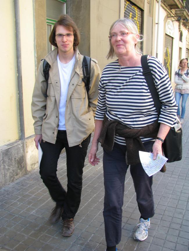 Константин Душкевич и его преподавательница в Архитектурной школе Орхуса Инге Вестергор (Inge Vestergaard) в рабочей поездке в Барселону