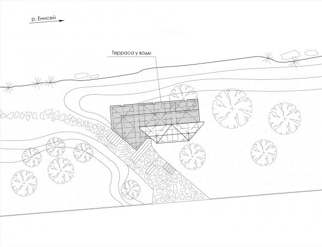 Общественные пространства на берегу озера Татышев. Генеральный план © АДМ