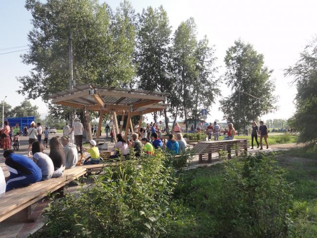 Общественные пространства на берегу озера Татышев. Информационная площадка. Фотография © Алексей Мякота