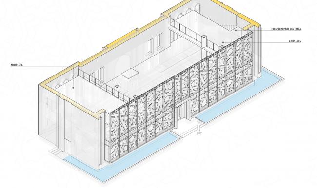 Реконструкция здания под мусульманский религиозный центр «14 Святых». План 3 этажа © Mamedov + Partners