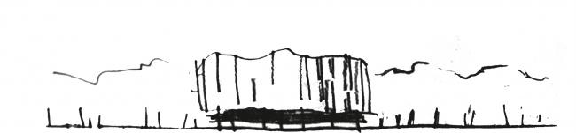 Бизнес-центр «Kiroff». Эскиз. Проект, 2013 © Белзарубежстрой