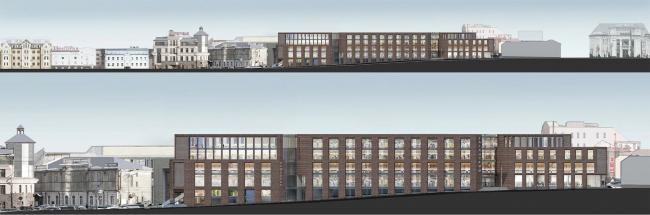 Многофункциональный комплекс на ул. Земляной Вал. Развертки. Проект, 2014 © Гинзбург Архитектс