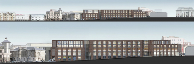 Multifunctional complex on the Zemlyanoy Val Street. Development drawings. Project, 2014 © Ginsburg Architects