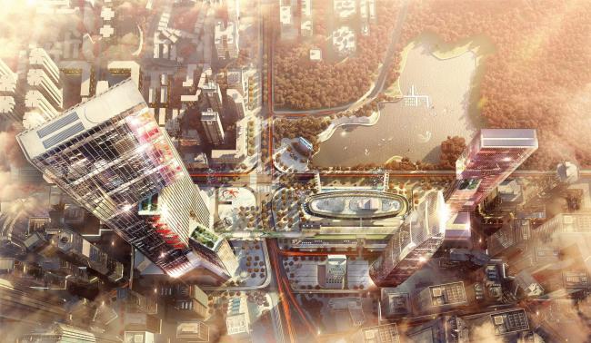 Высотное здание Nexus © Tegmark