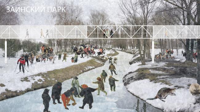 Проект воркшопа «Весенний МАРШ в Казани». Заинский парк. Предоставлено МАРШ Лаб