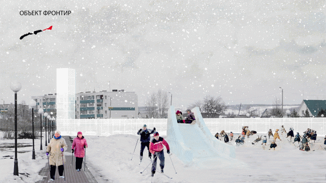 "Project of the workshop ""Spring MARCH in Kazan"". Zainsky Park. Provided by MARCH Lab."