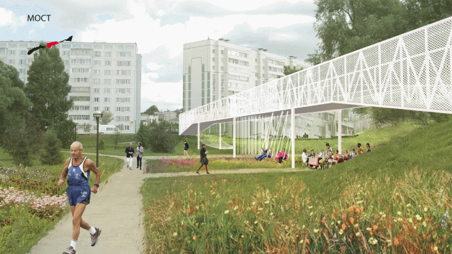 """Project of the workshop """"Spring MARCH in Kazan"""". Zainsky Park. Provided by MARCH Lab."""