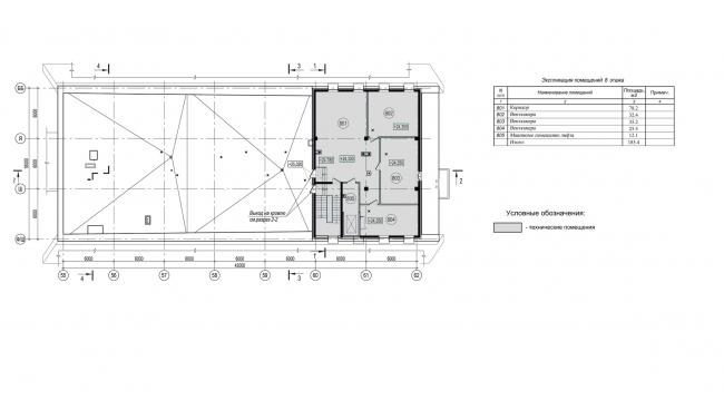 Хоккейная Академия «Авангард». План 8 этажа © Архитектурная мастерская Цыцина