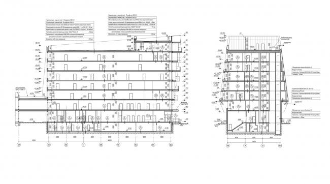 """Avangard"" Hockey Academy. Section view © Sergey Tsytsin Architectural Studio"