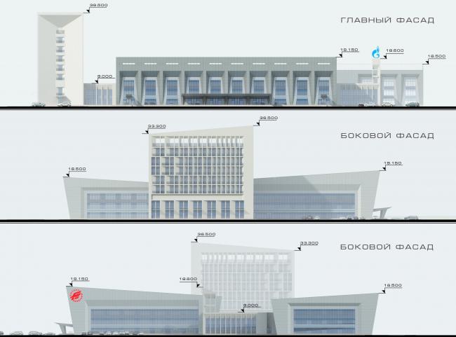 """Avangard"" Hockey Academy. Facades © Sergey Tsytsin Architectural Studio"