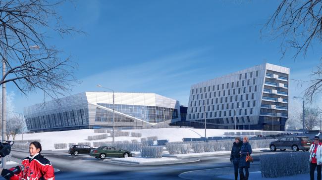 """""""Avangard"""" Hockey Academy © Sergey Tsytsin Architectural Studio"""