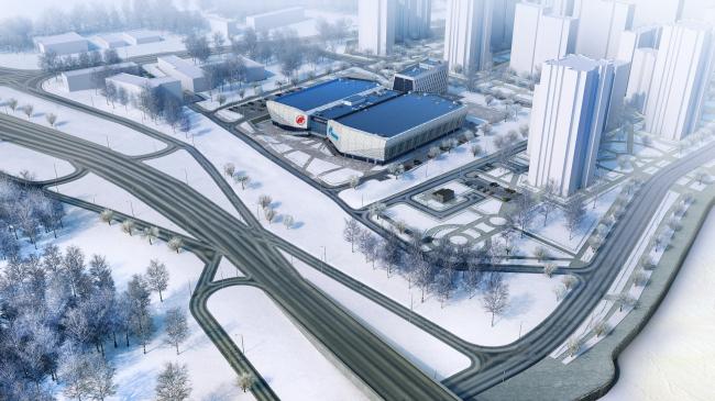 Хоккейная Академия «Авангард» © Архитектурная мастерская Цыцина