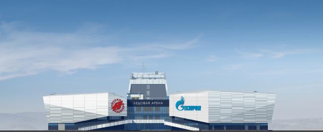 Хоккейная Академия «Авангард». Главный фасад © Архитектурная мастерская Цыцина