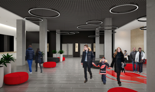 """Avangard"" Hockey Academy. The arena © Sergey Tsytsin Architectural Studio"