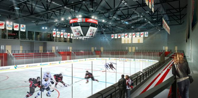 Хоккейная Академия «Авангард». Зал арены © Архитектурная мастерская Цыцина