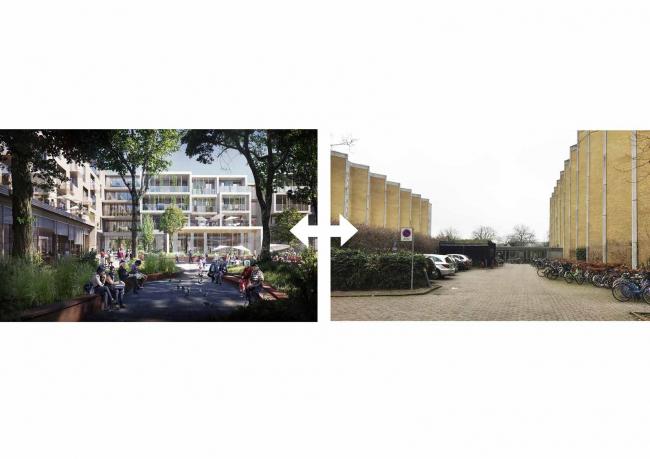 Future Sølund. Проект и сегодняшняя ситуация. Изображение: C.F. Møller Architects и Tredje Natur с сайта www.detnyesoelun.dk