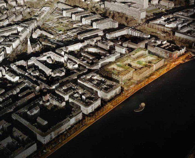 Future Sølund в окружающей застройке. Изображение: C.F. Møller Architects и Tredje Natur с сайта www.detnyesoelun.dk