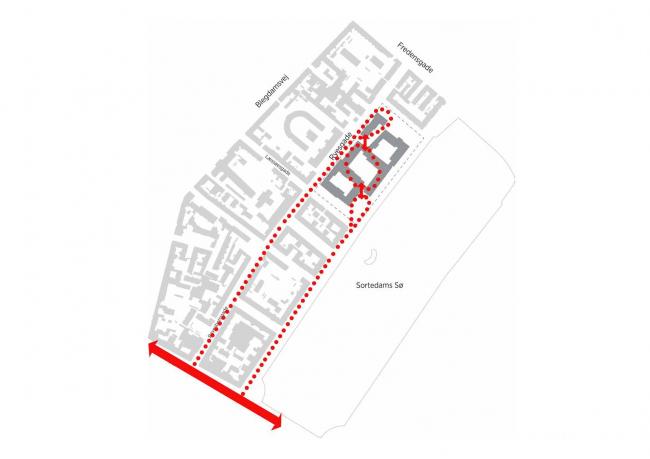 Future Sølund. Пешеходные маршруты. Изображение: C.F. Møller Architects и Tredje Natur с сайта www.detnyesoelun.dk