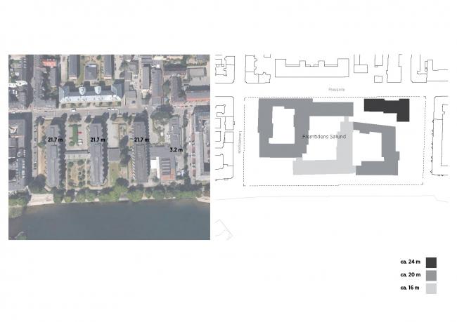 Future Sølund. Схема этажности. Изображение: C.F. Møller Architects и Tredje Natur с сайта www.detnyesoelun.dk