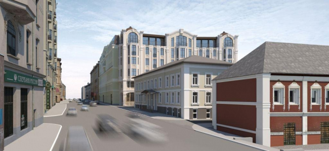 Гостиничный комплекс с апартаментами на Остоженке © «Дмитрий Пшеничников и партнеры», «Финпроект» и «Фабрика Современной Архитектуры»