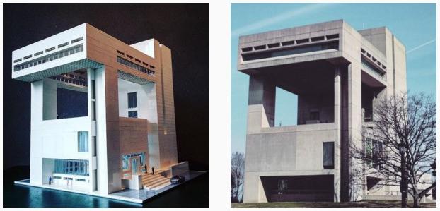 Копия здания музея имени Херберта Джонсона в Итаке (США), 1972. Архитектор Бэй Юймин © Arndt Schlaudraff