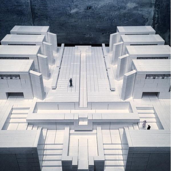 Копия здания института Солка в Калифорнии, 1963. Архитектор Луис Кан © Arndt Schlaudraff