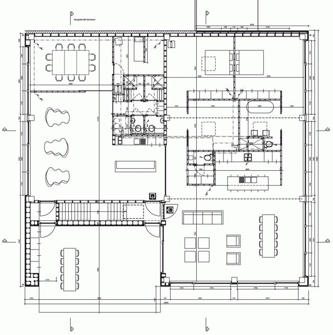 План третьего этажа. Штаб-квартира Solarcompany в городе Хёсден-Золдер © WV architecten