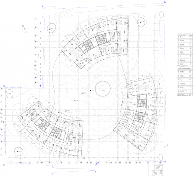 Многофункциональный комплекс «Лотос». Схема осей © SPEECH