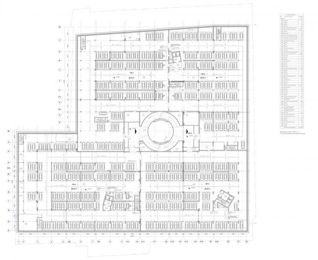 Многофункциональный комплекс «Лотос». План -4 этажа © SPEECH