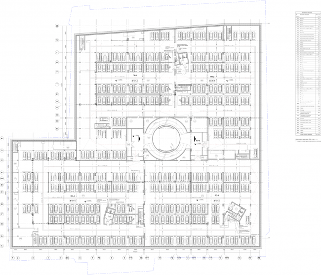 Многофункциональный комплекс «Лотос». План -3 этажа © SPEECH