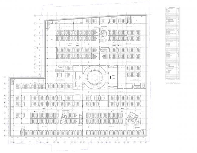 Многофункциональный комплекс «Лотос». План -2 этажа