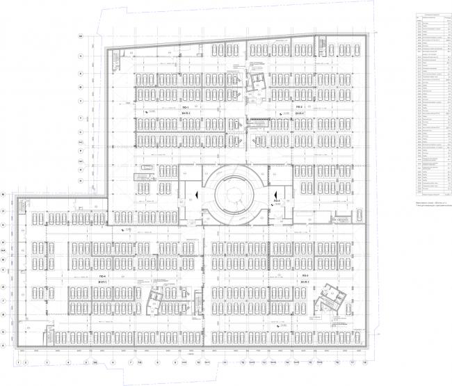 Многофункциональный комплекс «Лотос». План -1 этажа