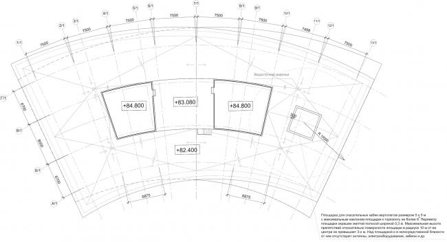 Многофункциональный комплекс «Лотос». План эксплуатируемой кровли © SPEECH