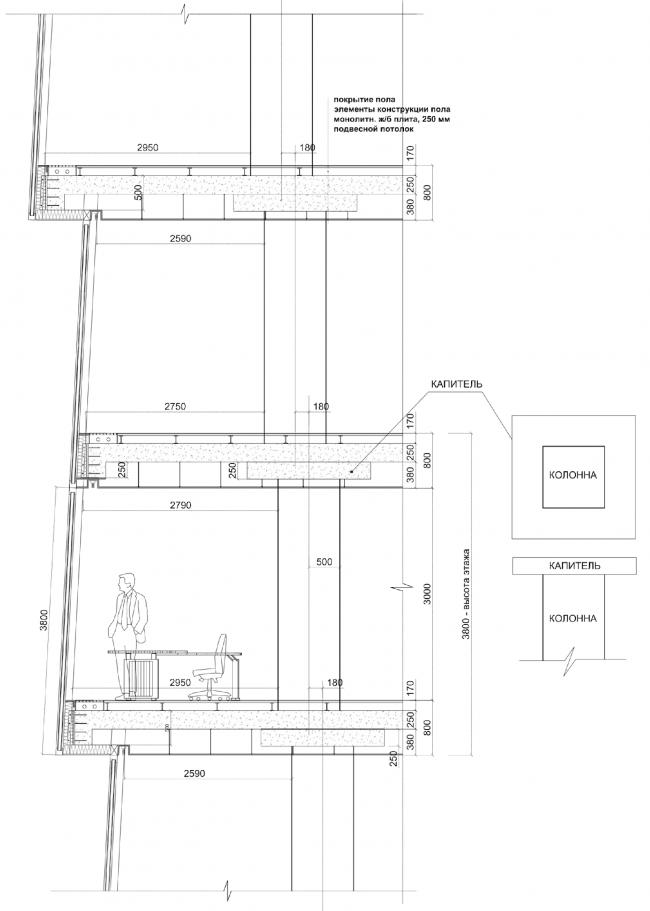 Многофункциональный комплекс «Лотос». Деталь фасада © SPEECH