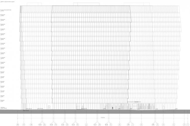 Многофункциональный комплекс «Лотос». Фасад