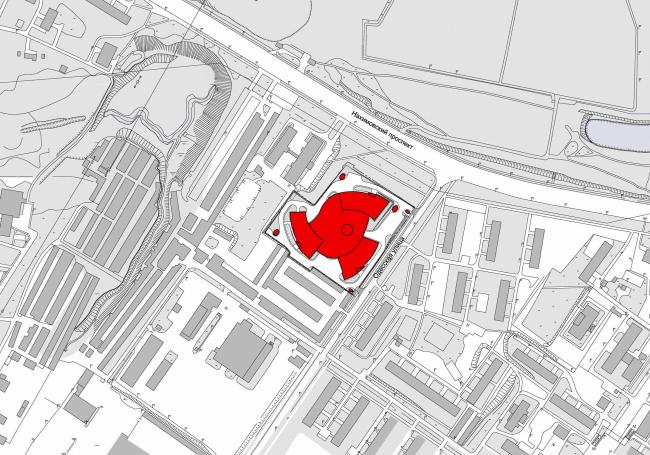 "Multifunctional complex ""Lotus"". Location plan © SPEECH"