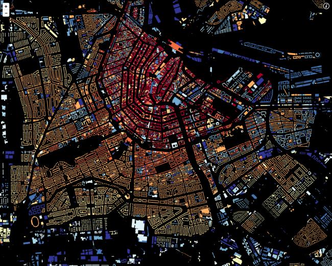 Интерактивная карта Нидерландов © Waag Society