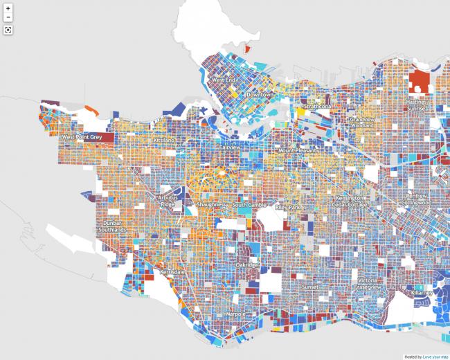 Карта Ванкувера © Екатерина Аристова