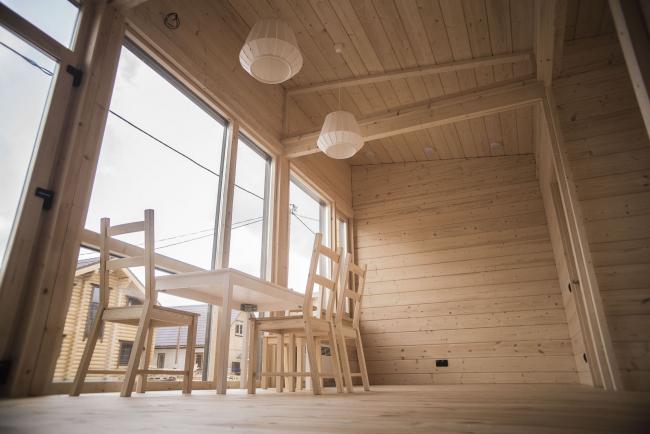 Серия домов «Дом-ковчег». Выставочный дом у м. Домодедовская. Постройка, 2016 © АрхПроект-3