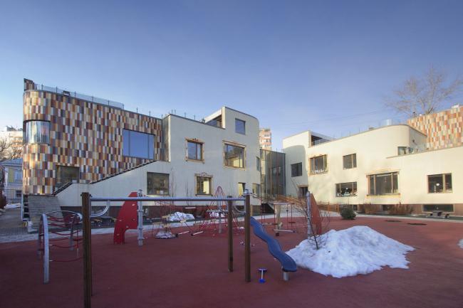 Детский сад в Малом Полуярославском пер. Постройка, 2016 © Архитектурное бюро Асадова