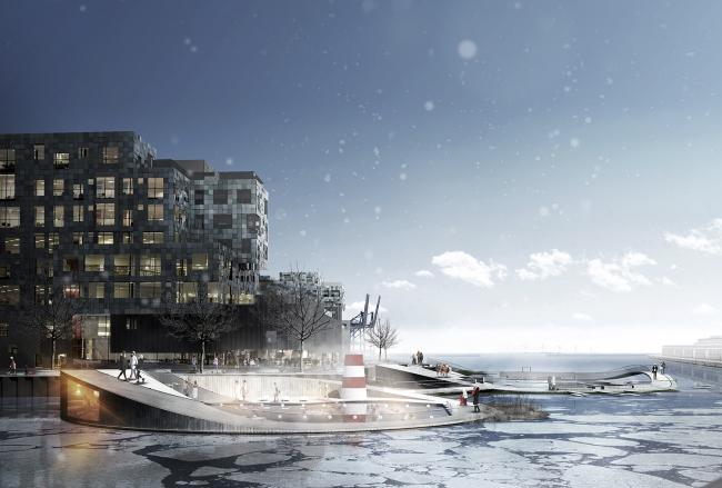 Городской парк на воде «Острова Норхавна» © C.F. Møller Landscape