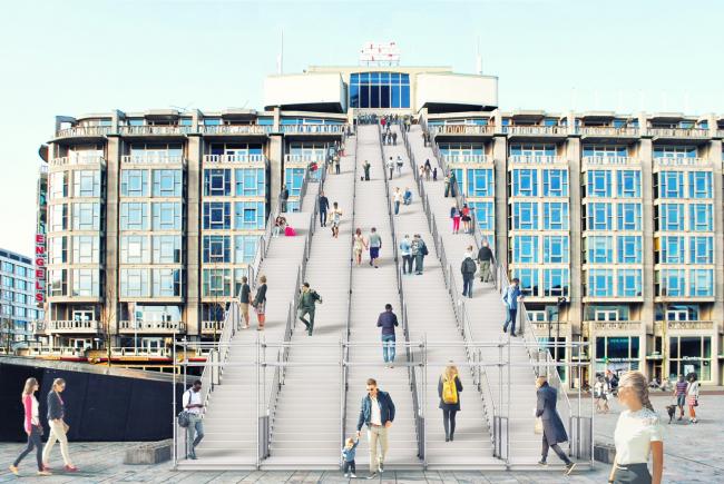 Проект инсталляции The Stairs © Antonio Luca Coco