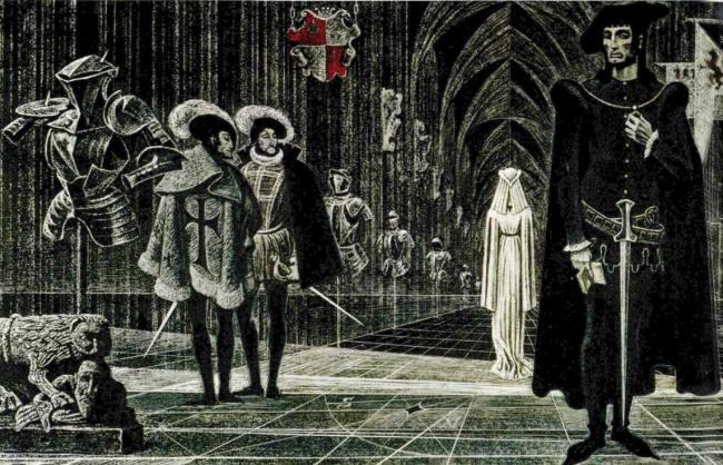 Савва Бродский. Иллюстрация к «Ромео и Джульетте» В. Шекспира.
