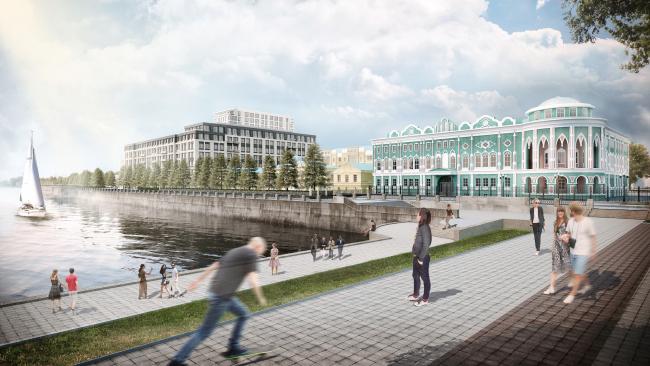 Многофункциональный жилой комплекс в Екатеринбурге. Проект, 2016 © T+T Architects