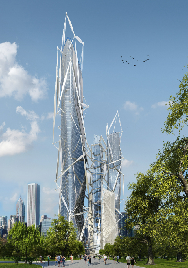 The skyscraper project for Evolo-2016. Project, 2016 © Arch Group